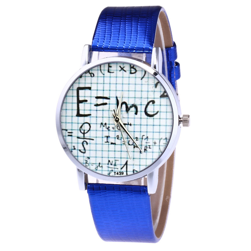 Quartz Watch Illustration Watches Round Dial Watch Women Faux Leather Strap Couple Watches  LL@17
