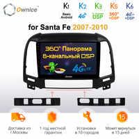 Ownice k3 k5 k6 Android 9 64G ROM 8 Core für Hyundai Santa Fe 2007 2008-2010 Auto Radio GPS Auto Navigation 360 Panorama Optische