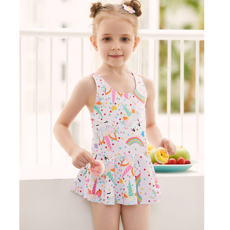Now Batch New Style CHILDREN'S Swimwear Children One-piece Princess Skirt Swimwear Cute Cartoon GIRL'S Swimsuit