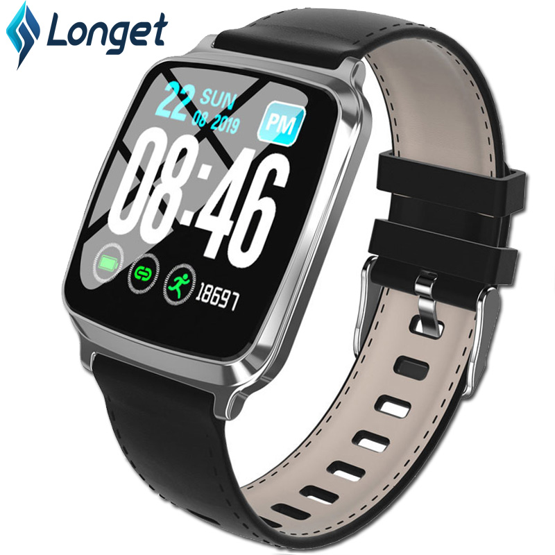 Longet <font><b>M8</b></font> <font><b>Smart</b></font> <font><b>Watch</b></font> Color Touch Screen Bluetooth for Men Android iOS Fitness <font><b>Watch</b></font> with Call Reminder Sleep& Blood Pressure image