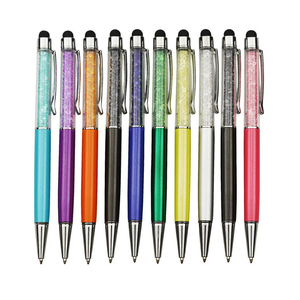 Image 3 - Hurtownie 100 sztuk długopis kryształowy diament dekoracyjny długopis 0.7mm długopis wskazówka wszystkie materiał metaliczny Student długopis biurowy na prezent