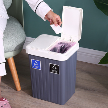 10L/14L/20L Home Kitchen Garbage Can Wet Dry Trash Separated Large Capacity Bathroom Waste Bin Recycle Bin Corner Storage Bucket trash cans for the kitchen bathroom wc garbage classification rubbish bin dustbin bucket press type waste bin garbage bucket