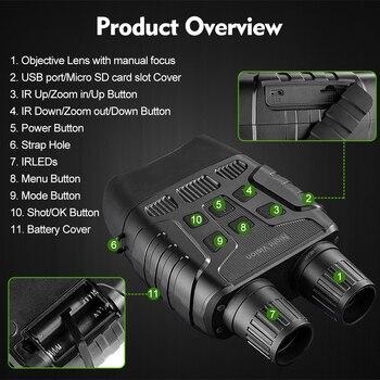 Super Quality Night Vision Binoculars for Hunting Traveling Fishing IR Monocular Camera Security Telescope 300M 32G HD Binocular 4