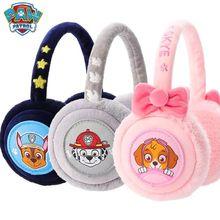 Оригинальные зимние меховые наушники «Щенячий патруль», милые наушники на уши, плюшевые наушники для девочек и мальчиков, детские наушники, Подарочная игрушка