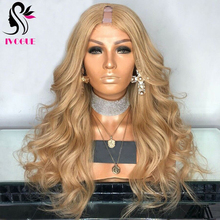 Wigs Human-Hair-Wigs U-Part Virgin Body-Wave Remy-Glueless Middle-Right Wavy -27 1-Golden-Blonde