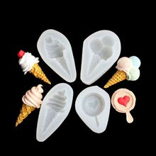 4Pcs Ice Cream DIY Epoxy Resin Mold Popsicle Resin Pendant Mold Jewelry Making Tools