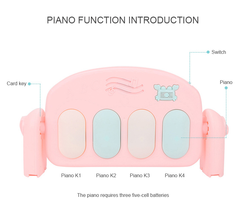 mão olho coordenação multifuncional plástico música pedal piano brinquedo