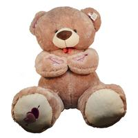 70cm 1pc I Love You Bear Large Stuffed Plush Toy Holding LOVE Heart Soft Gift for Valentine Day Birthday Girls' Xmas Brinquedos