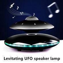 Levitação ufo alto-falante lâmpada de mesa led night light bluetooth suspensão preto tecnologia carregamento sem fio alta fidelidade som led luz