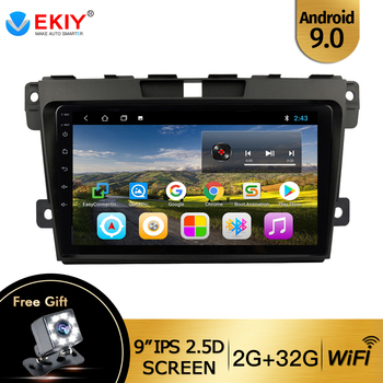 EKIY 9 Android 9.0 Car Radio For Mazda CX7 CX-7 CX 7 2009-2012 Car Multimedia Video Player Navigation GPS No 2din 2 Din Dvd image
