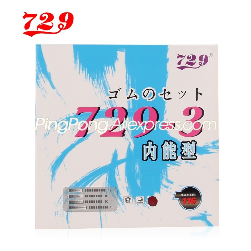 Friendship 729 729-3 (Thin Rubber + Thick Japanese Sponge, Powerful Loop ) Pips-In Table Tennis Rubber With Ping Pong Sponge