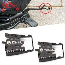 Acessórios da motocicleta anti skid pedal de freio para honda rebel500 rebel300 cmx500 cmx300 rebel 500 300 cmx 500 300