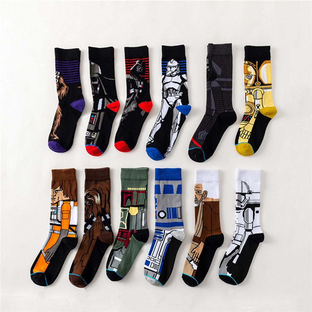 Star Wars Movie Stockings Master Cosplay Socks Wookiee Jedi Knight Novelty Men's Women's Socks Spring Autumn Winter