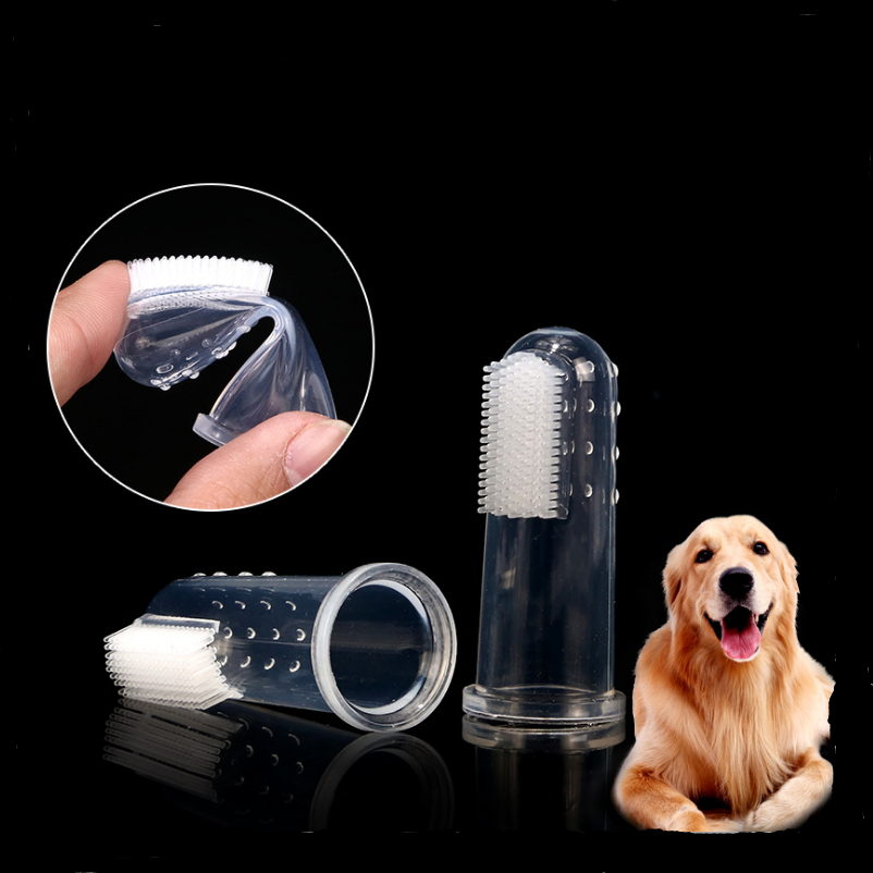 5/10pcs Soft Food Grade Silicone Pet Dog Finger Toothbrush Cat Dog Dental Hygiene handle Brush for all Cats&Dogs Pet Supplies image