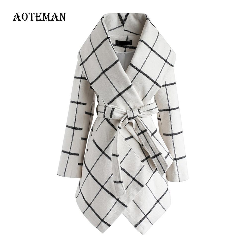 Winter Spring Coat Women 2020 Fashion Casual Wool Vintage Belt Long Jackets Blazers Female Elegant Office Coat Casaco Feminino