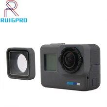 UV Lens halkası değiştirme koruyucu onarım Case çerçeve Gopro Hero 5/6/7 siyah