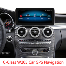 Android 9.0 eight-core 4G + 64G 10.25 suitable for Mercedes-Benz C-Class W205 car GPS navigation modification central control for mercedes benz c class w205 2015 2019 ntg original style multimedia player hd screen stereo android car gps navi map radio