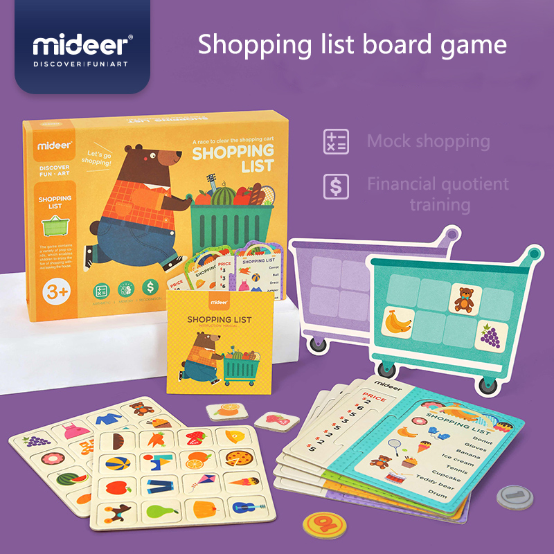 MiDeer Baby Education Toys Shopping List Table Game Simulation Supermarket Memory Operation 3Y+ Kids Cognitive Money Game
