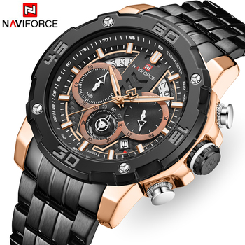 NAVIFORCE 9175 Stainless Steel Business Men Waterproof with box