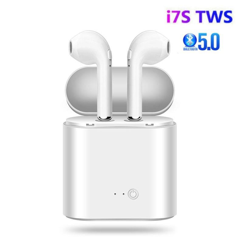 Auriculares TWS I7s, inalámbricos por Bluetooth 5,0, Auriculares deportivos con micrófono para teléfonos inteligentes, Xiaomi, Samsung, Huawei y oppo