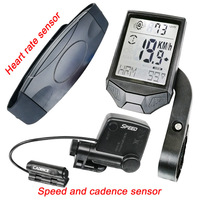 New Multifunctional Wireless Bicycle tachometer, Heart Rate Bicycle Computer, Cadence Cycle Computer, Nightlight, Waterproof