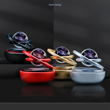 Solar Magnetic Levitation Car Rotating Ornaments Car Decoration Solar System Figurines Decoration Accessories Creative Gift