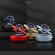 Solar Magnetic Levitation Car Rotating Ornaments Car Decoration Solar System Figurines Decoration Accessories Creative Gift