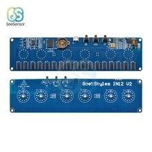 Micro USB 5V 1A Electronic DIY Kit IN12 Nixie Tube Digital LED Clock Gift Circuit Board Kit PCBA No Tubes