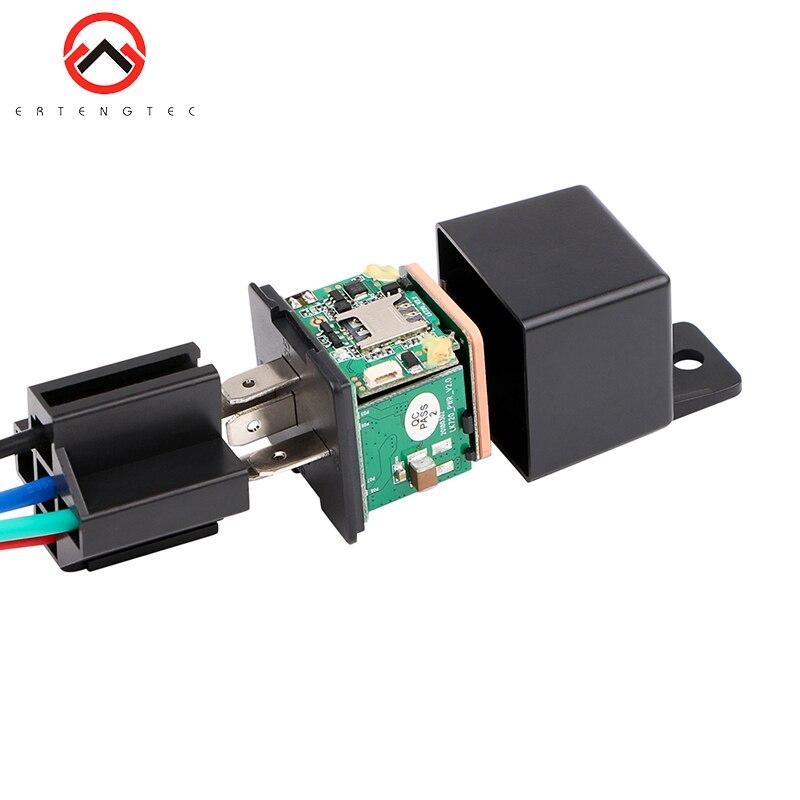 Relés do carro gps tracker alarme de choque do carro gps gsm localizador de rastreamento dispositivo de controle remoto anti-roubo monitoramento cortar a energia do óleo