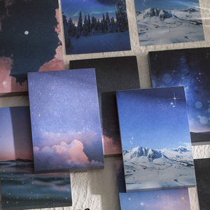 100 sheet Dreamy night sky Memo Pad Message Notes Decorative Scenery Notepad Note paper Memo Stationery Office Supplies