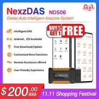 Humzor NexzDAS ND506 OBD2 lector de código de coche sistema completo escáner de coche camión vehículos Diesel herramienta de diagnóstico automático para Android iOS