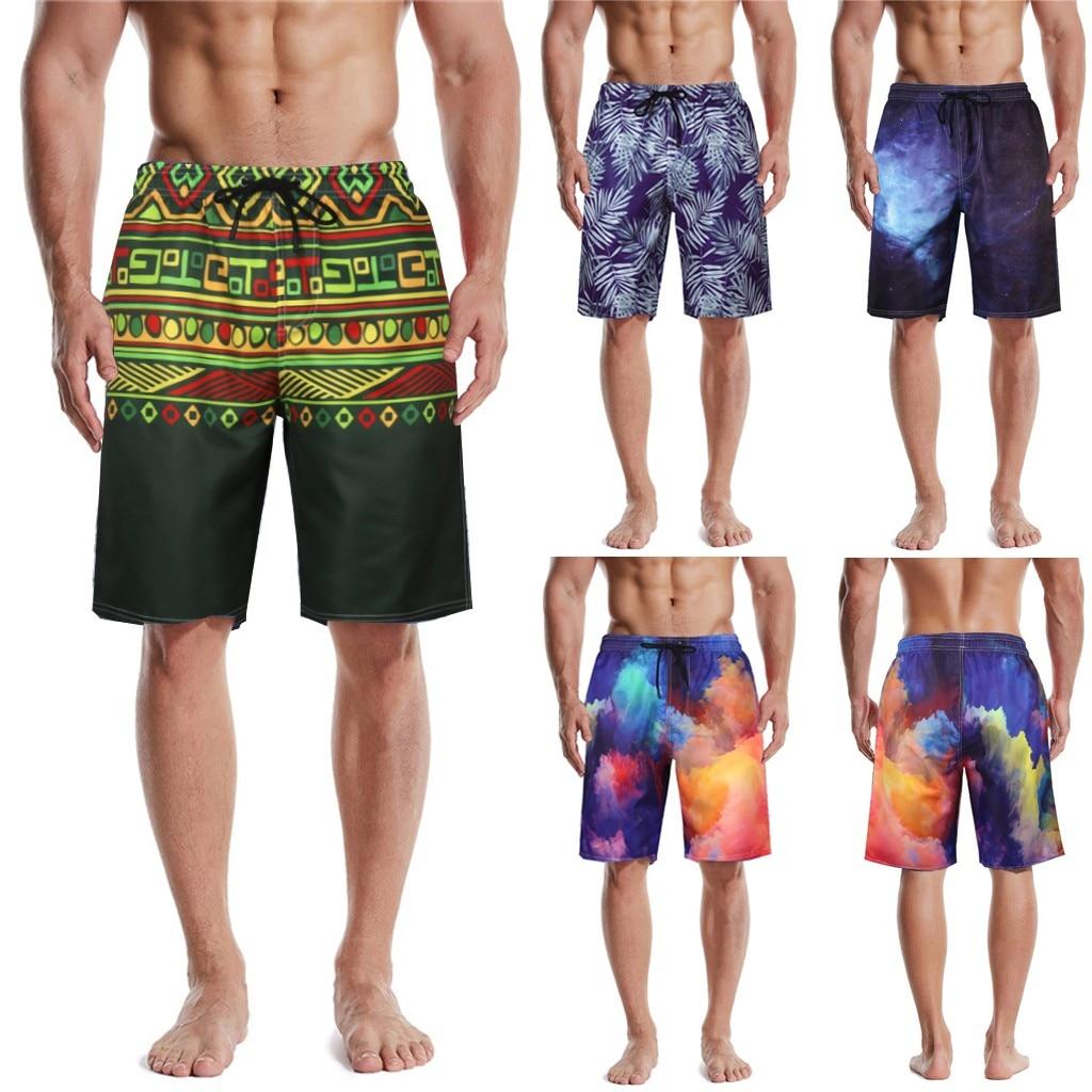 Mens Swim Trunk 3D Print Graphic Summer Beach Shorts Surfing