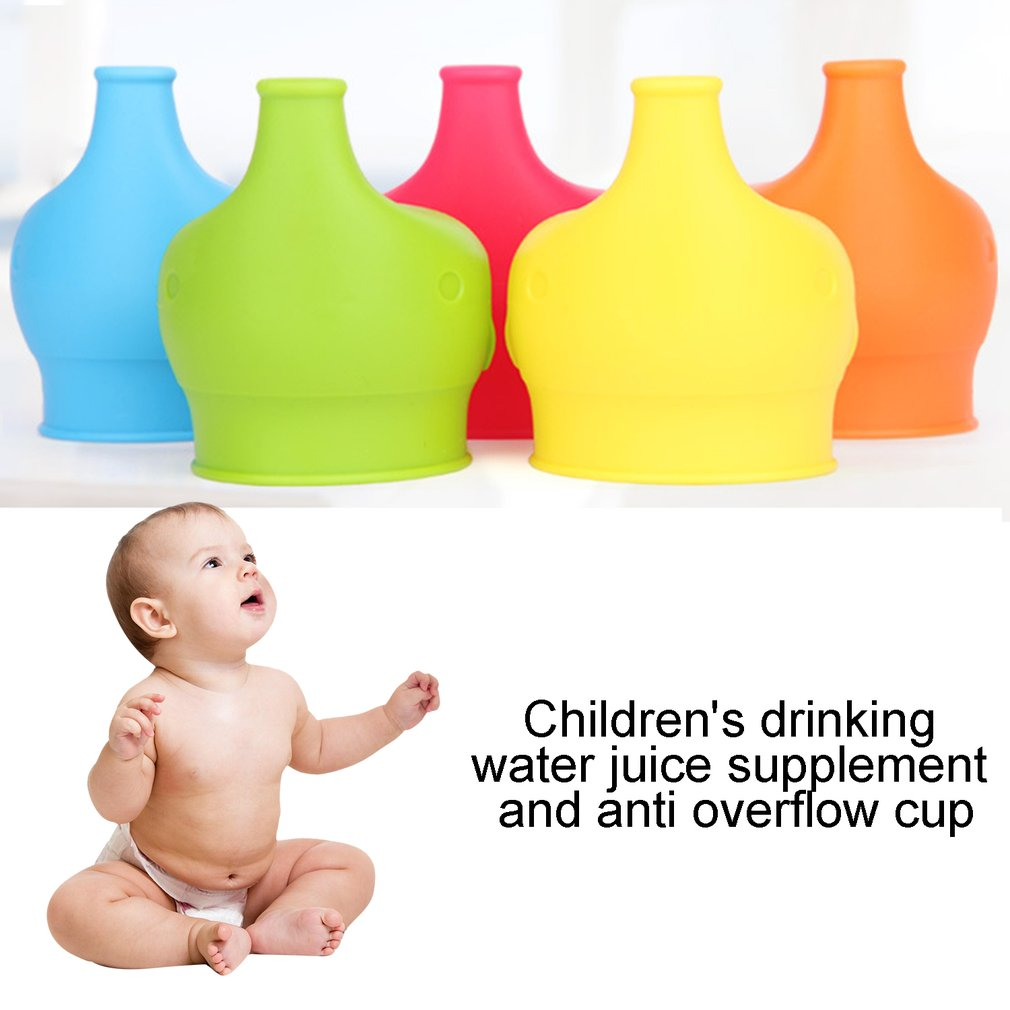 2019 Reusable Elephant Silicone Sippy Cup Lid Flexible Overflow Spill-Proof Cup Cover For Babies Toddlers Drinking Tool