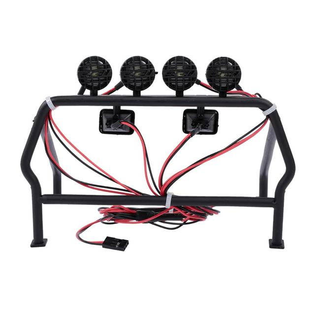 Metal Roll Cages Bucket 6 LED Lights Set for RC4WD 1//10 TF2 Car Accessories #Z