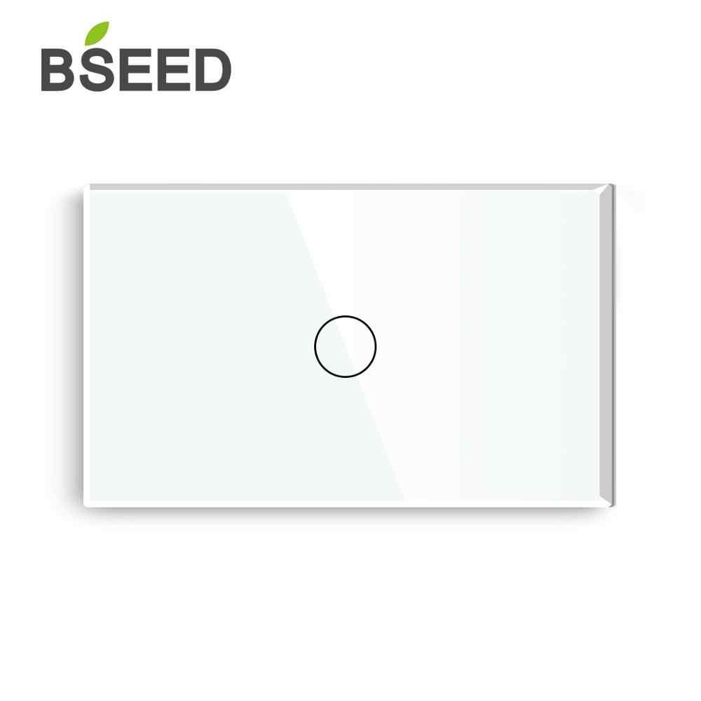 Bseed US сенсорный диммер 1 банда 1 способ тусклый светодиодный свет белый черный золотой кристалл класс Панель Умный диммер