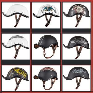 Image 2 - Gxt novo capacete da motocicleta do vintage retro metade motocross capacete aberto rosto casco moto capacete de corrida equitação