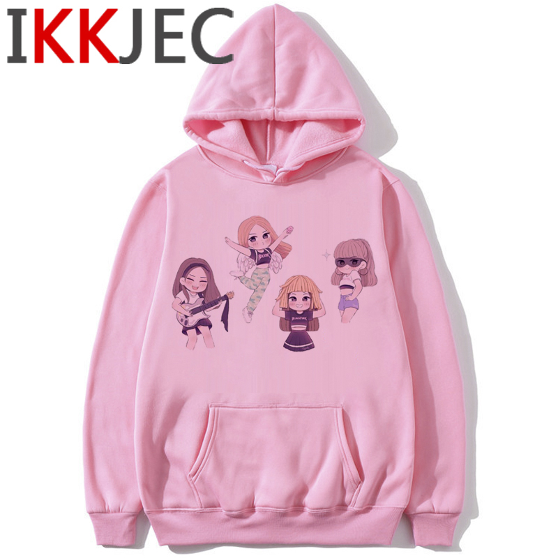 Blackpink In Your Area Harajuku Hoodies Women Ullzang Kill This Love Album K-pop Sweatshirt Jisoo Jennie Lisa Rose Hoody Female 34