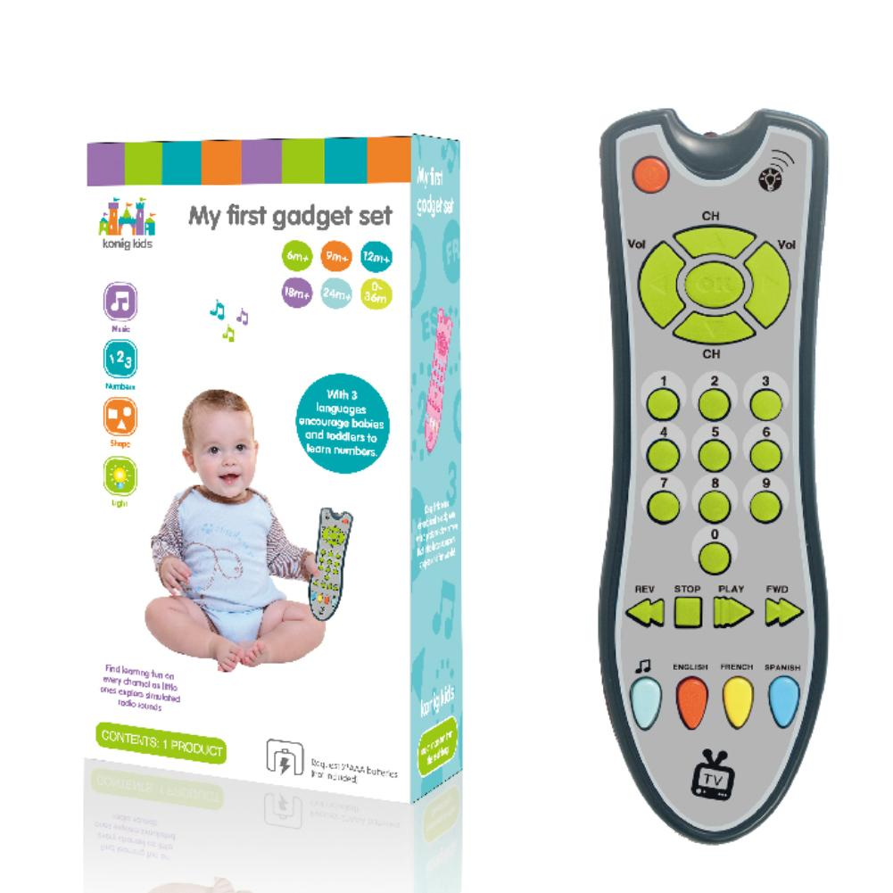 Musique Baby Simulation TV Remote Control Kids électriques Apprentissage  Distance Educational Music English Learning Toy Gift