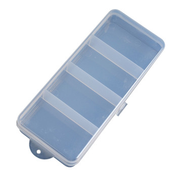 цена на 4 Grid Fishing Box Plastic Compartments Fishing Lure Bait Hook Tackle Storage Box Case Container