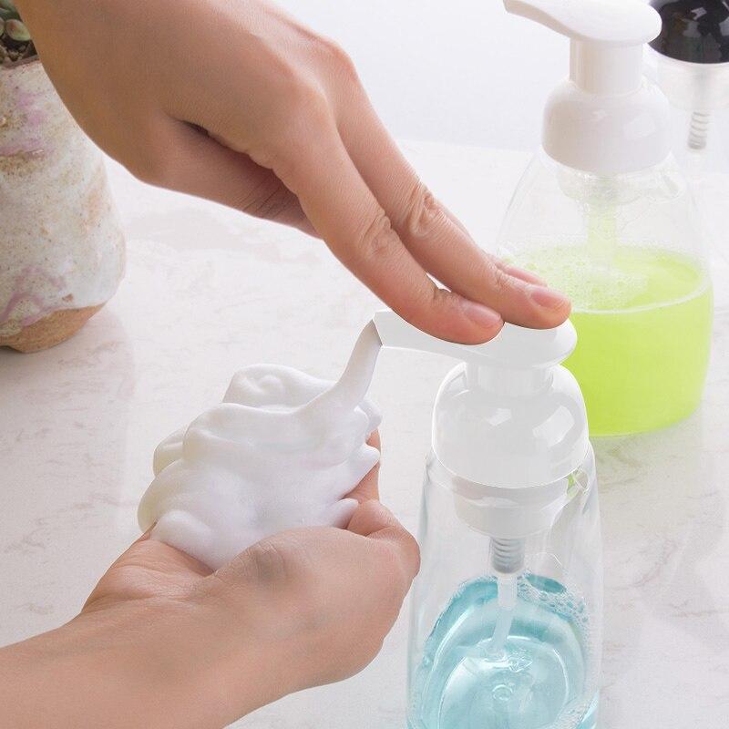 250/300/400 Ml Soap Foam Bottle Jar PET Travel Clear Squeezed Dispenser Foaming Pump Travel Refillable Bottle Empty Container