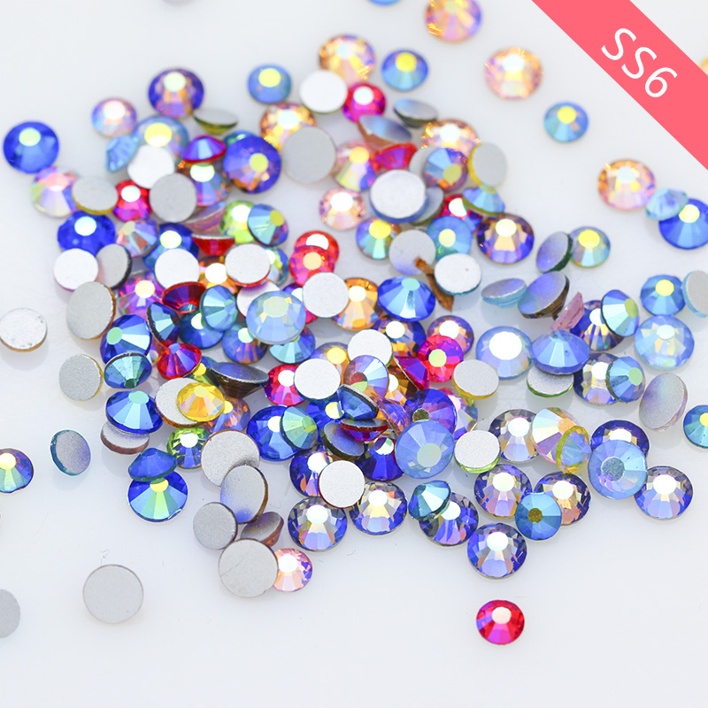 1500Flat backed Clear 4mm Crystals Nail Face Body Art Table Scatter DIY Card