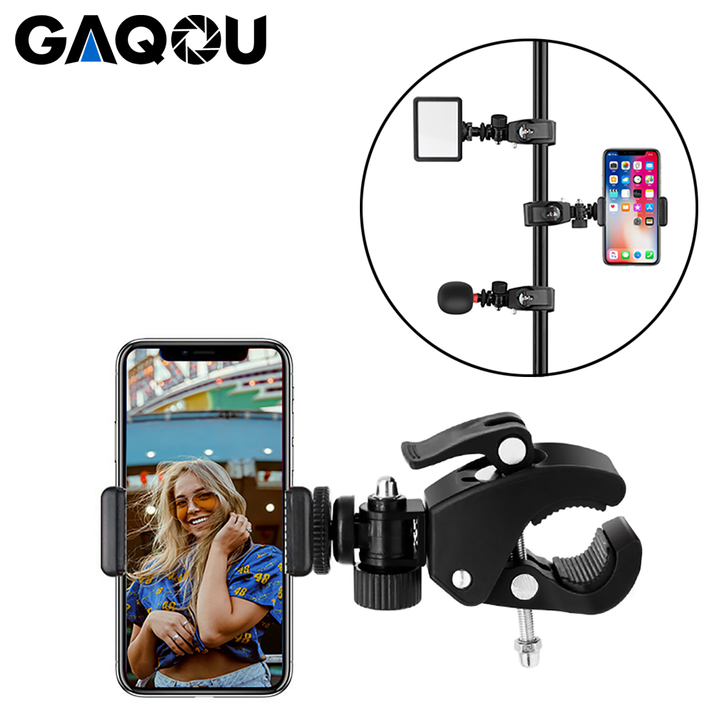 Mobile Phone Mount Holder Stand 360 Degree Rotation Tripod Monopod Clamp Clip for Webcam Live Video Light Chat Taking Photos