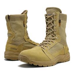 IODSON Primavera E No Outono Dos Homens das Forças Especiais botas de Combate Botas de Deserto Tático Botas Militares Botas de Segurança Militar Respirável