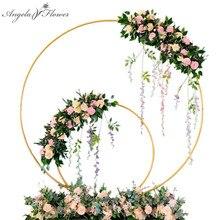 結婚式のアーチ錬鉄製ラウンドリングアーチ人工フラワー装飾誕生日パーティー祝賀結婚式小道具花スタンド棚