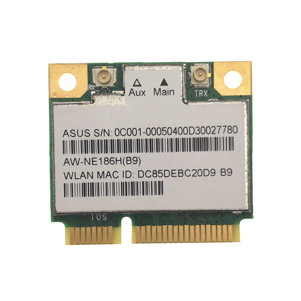 AzureWave AW-NE186H AW-NE195H AR9485 AR5B125 Half Mini Pci-e 150Mbps Wireless Wlan Wifi Card