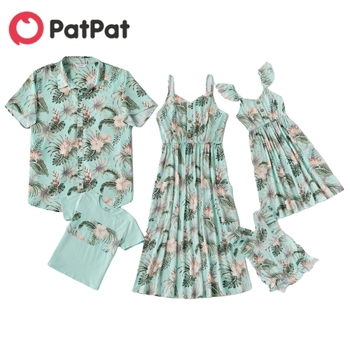 PatPat 2020 New Summer Mosaic Family Matching Floral Tank Dresses - Shirts Rompers Outfits  Look Sets