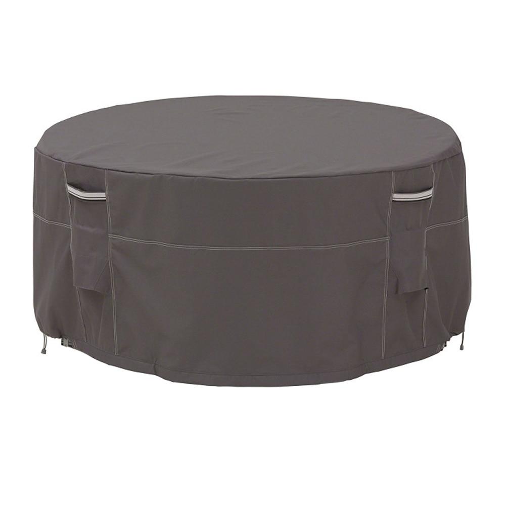 Pliable jardin été hiver canapé chaise Patio maison Table ronde couverture soleil ombre Anti poussière meubles protéger extérieur étanche