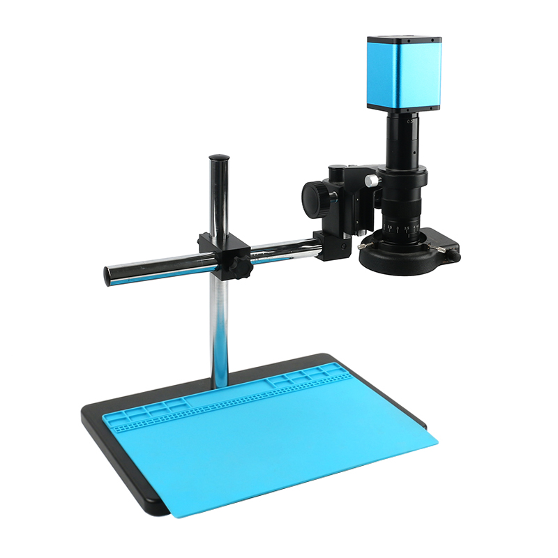 FHD 1080P HDMI <font><b>USB</b></font> 12MP PC Industrial measurement Autofocus SONY IMX226 Video Microscope Camera TF Recorder CS C Mount Camera image