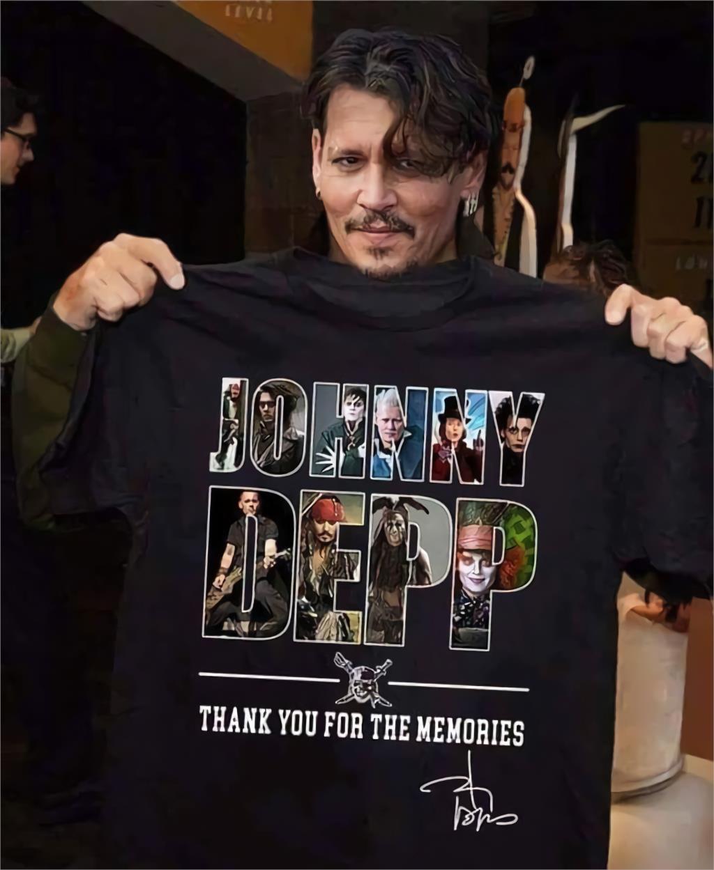 2020 Hot Fashion Boys T-shirt The  Johnny Depp Thank You For The Memorles 2020 Summer Men's Short Sleeve T-Shirt