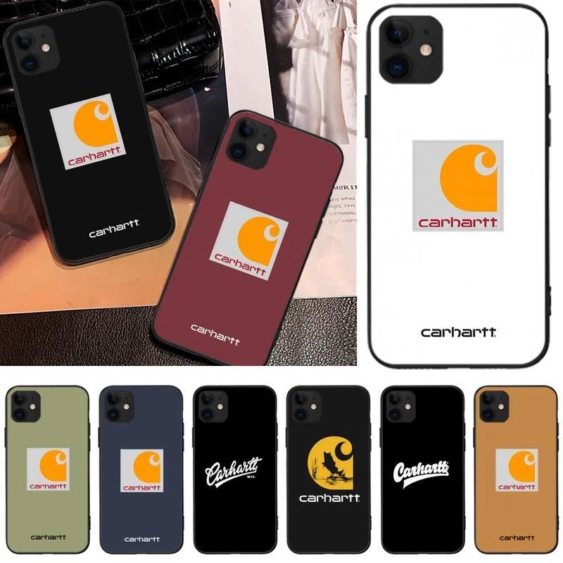 designer brand letter carhartt case coque fundas for iphone 11 PRO MAX X XS XR 4S 5S 6S 7 8 PLUS SE 2020 cases cover